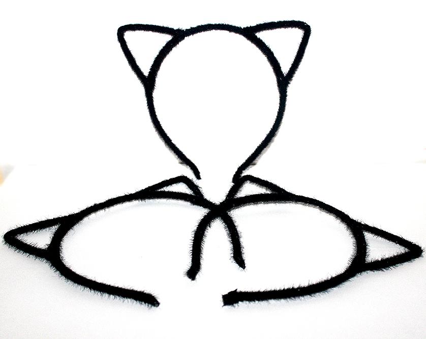 macskás hajpánt, cicás ajándék