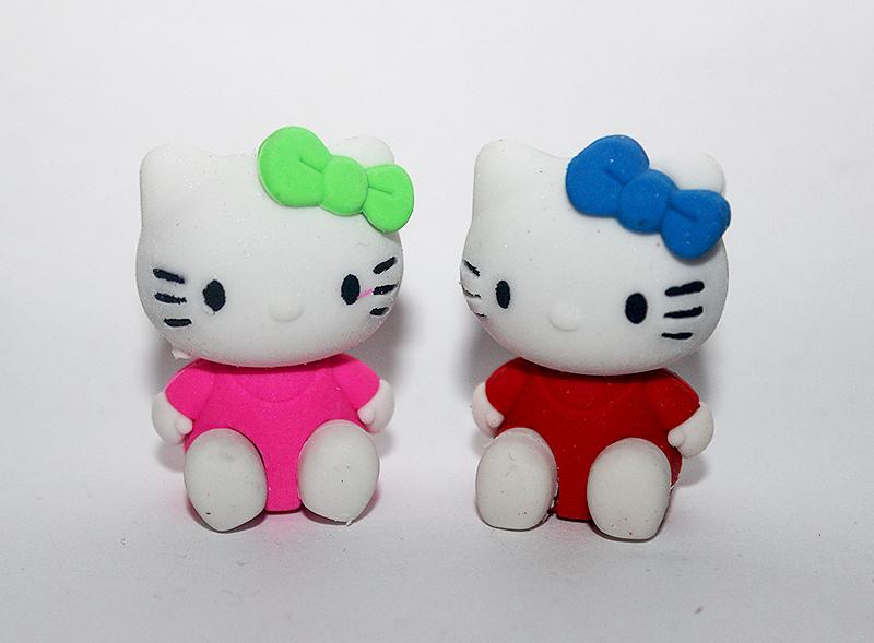 cicás radír színes, macskás ajándékok