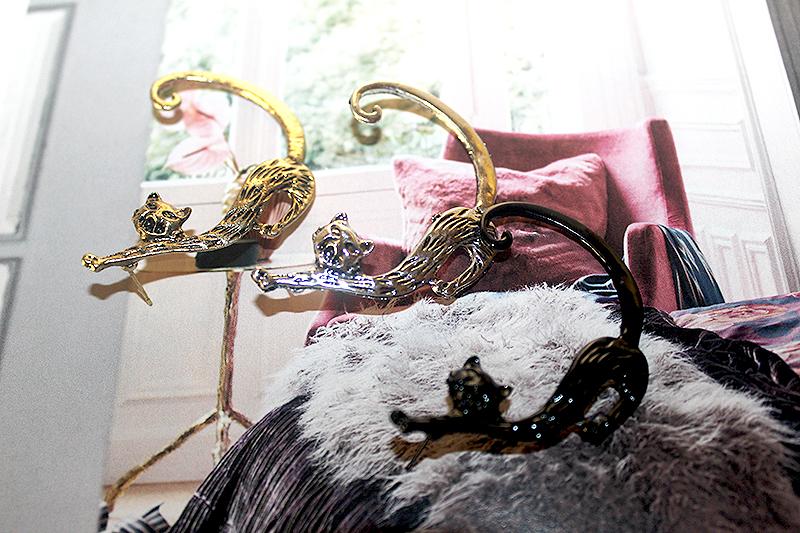 cicás fülbevalók, macskás ajándék