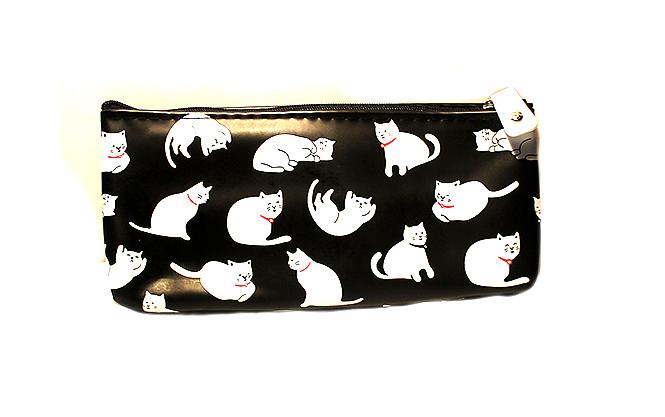 fekete macskás neszeszer, cicás ajándék