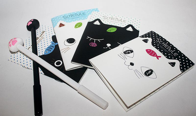 macskás jegyzetfüzet, cicás ajándék